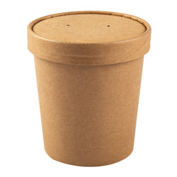 475 ml KRAFT PAPER FOOD CONTAINER AND LID COMB, Case of 250