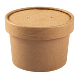 236 mm KRAFT PAPER FOOD CONTAINER AND LID COM, 1 pack of 250