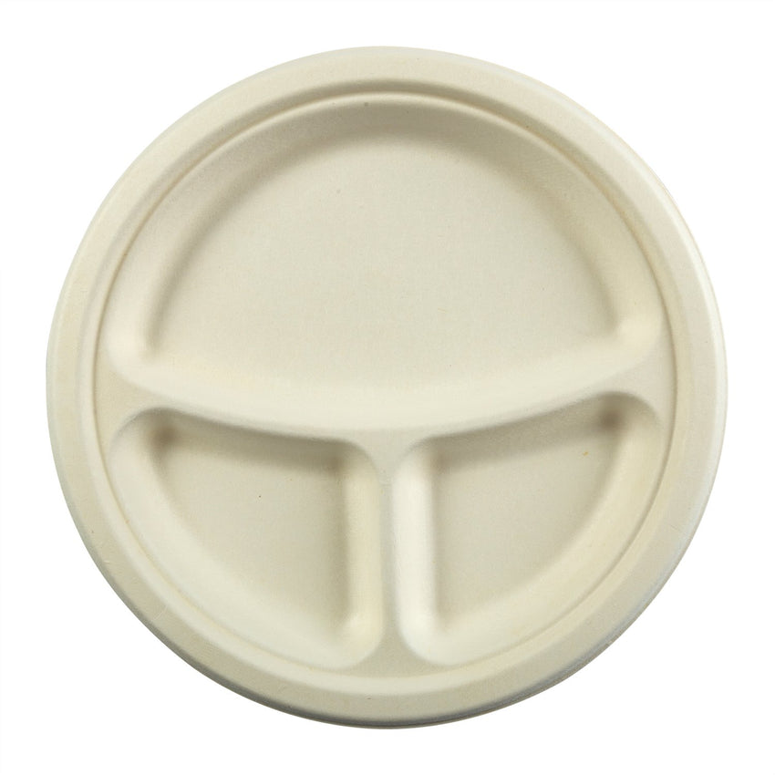 228 mm 3-SECT. ROUND PLATE, Case of 500
