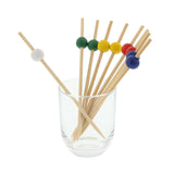 120 mm ASSORTED BAMBOO BALL PICK R/B/G/Y/W, PACK OF 1000