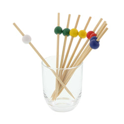 120 mm ASSORTED BAMBOO BALL PICK R/B/G/Y/W, 10/100