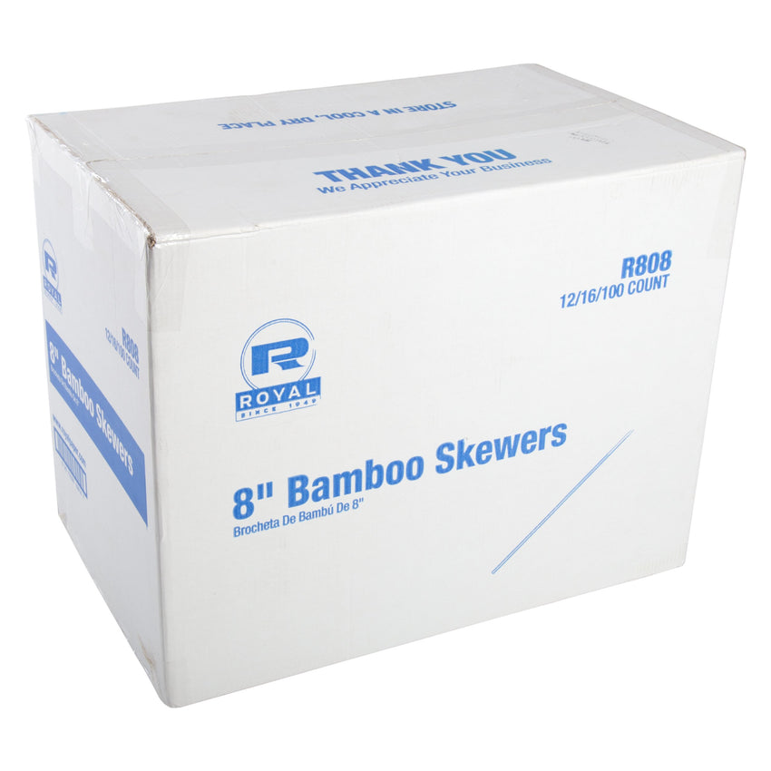 203 mm BAMBOO SKEWER, Case of 19,200