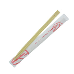 228 mm TWIN BAMBOO CHOPSTICKS IN WHITE PAPER SLEEVE, Case of 1000