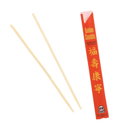 228 mm BAMBOO CHOPSTICKS IN RED PAPER SLEEVE, Case of 1000