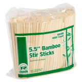 140 mm BAMBOO COFFEE STIRRER, 10 packs of 1000