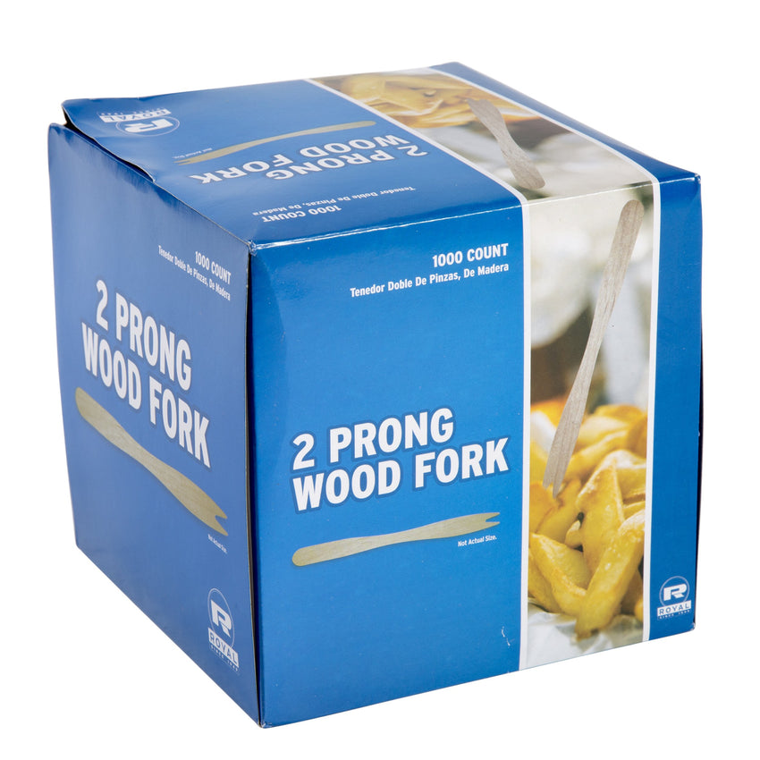 140 mm TWO PRONG WOOD FORK, case of 10,000