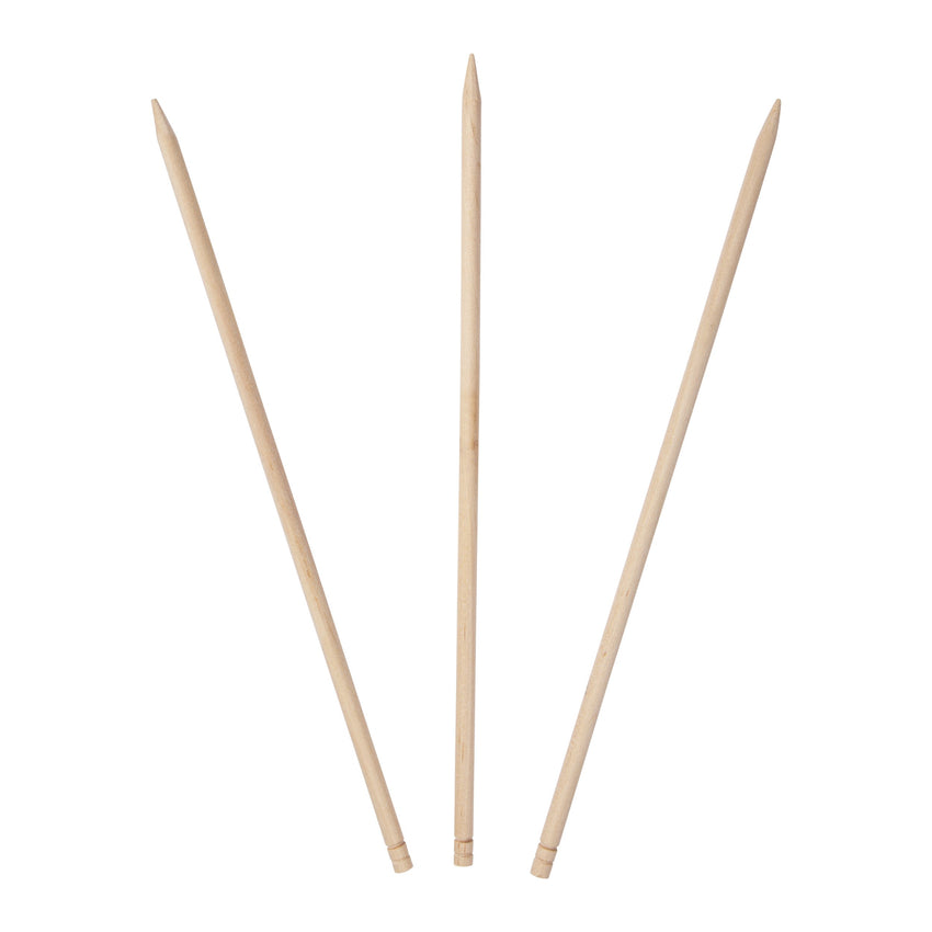 215 mm L, 4.76 mm DIA., THICK WOODEN SKEWER, Case of 5000