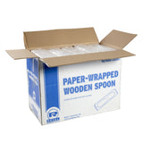 PAPER WRAPPED WOODEN SPOON, Case of 10,000