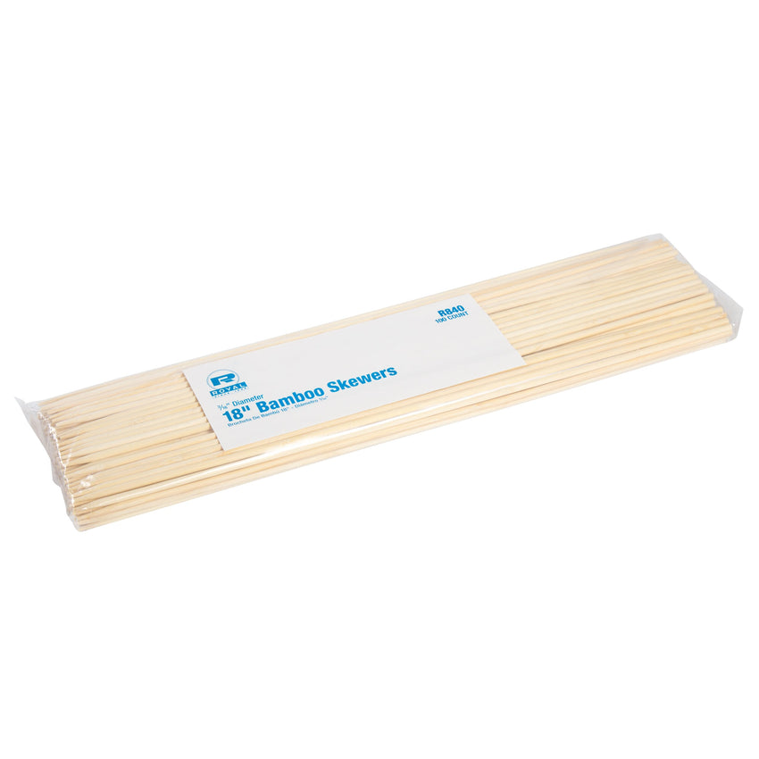 460 mm BAMBOO SKEWER ROUND, SEMI-POINT, 5MM DIA., Case of 1000