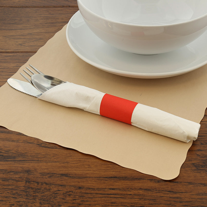 RED NAPKIN BANDS, Case of 20,000