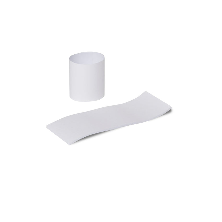WHITE NAPKIN BANDS, 8 packs of 2500