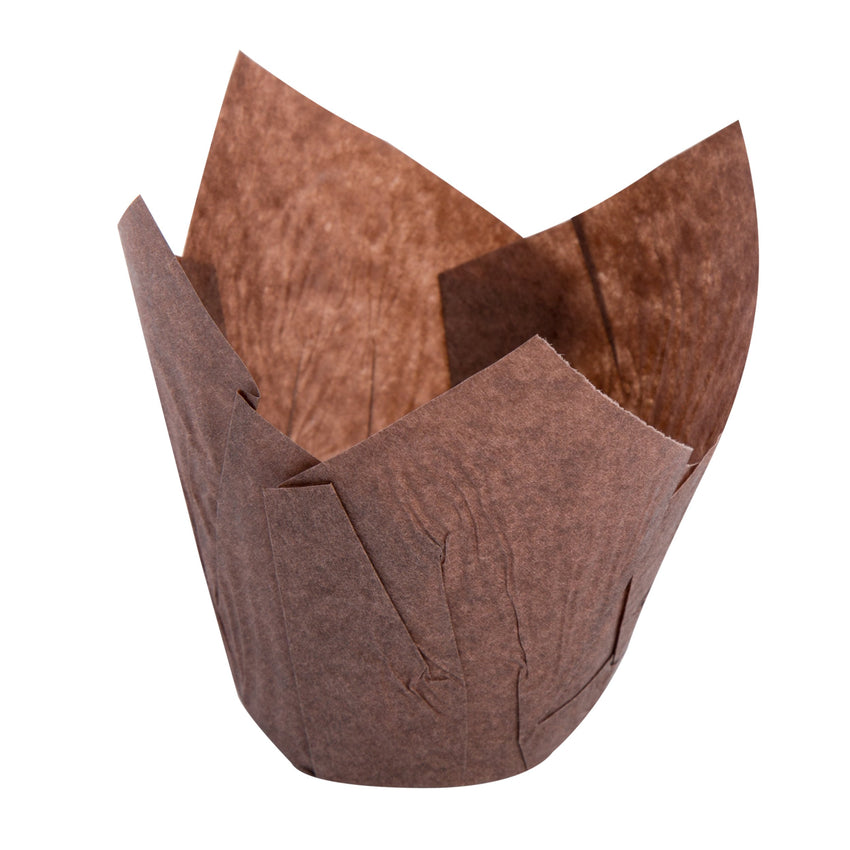 TULIP BAKING CUP LARGE BROWN 200 mm X 50 mm, Case of 2000