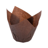 "TULIP BAKING CUP SMALL BROWN, 200 mm"" X 50 mm, Case of 2000"