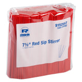 190 mm RED SIP STRAW INNER BAGS, Case of 10,000