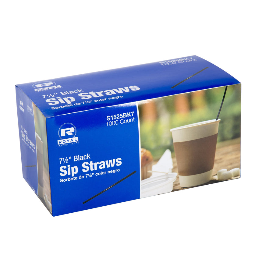 190 mm BLACK SIP STRAW INNER BOX, Case of 10,000