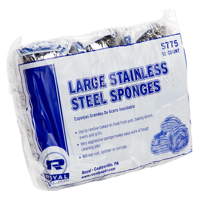 LARGE STAINLESS STEEL SPONGE, Case of 72