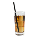 196 mm GIANT UNWRAPPED BLACK PAPER STRAW, Case of 2400