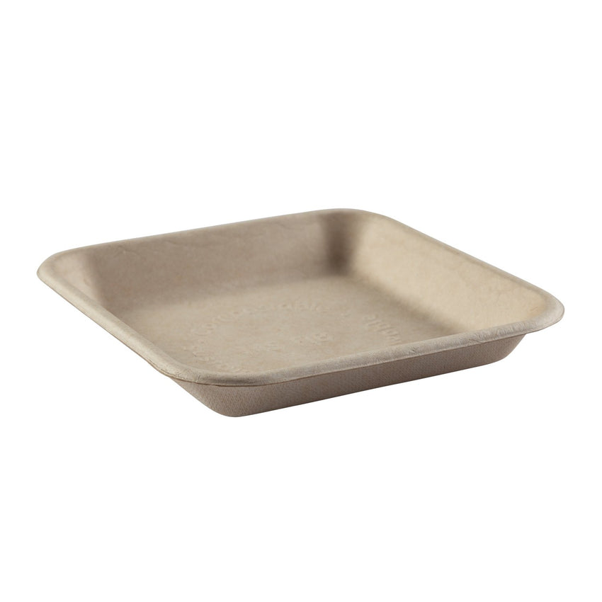 TAN FIBER TRAY 152 mm X 152 mm X 22 mm, Case of 500