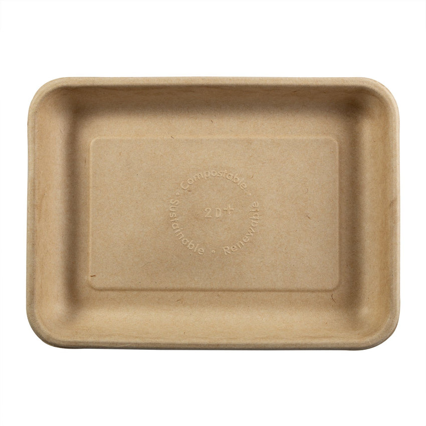 TAN FIBER TRAY 226 mm X 165 mm X 25 mm, Case of 500