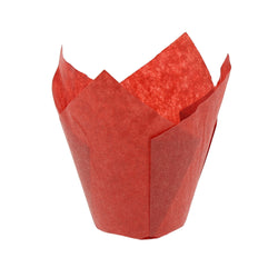 TULIP BAKING CUP MEDIUM RED 158 mm X 50 mm, Case of 2000