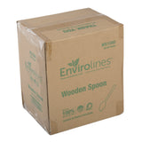 ENVIROLINES HEAVY WEIGHT DISPOSABLE WOODEN SPOON, Case of 1000