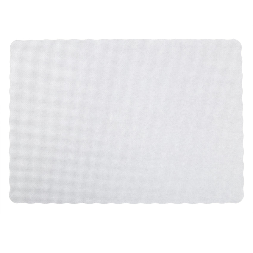 STIRLING WHITE 241 mm x 343 mm SCALLOPED PLACEMATS, 1000