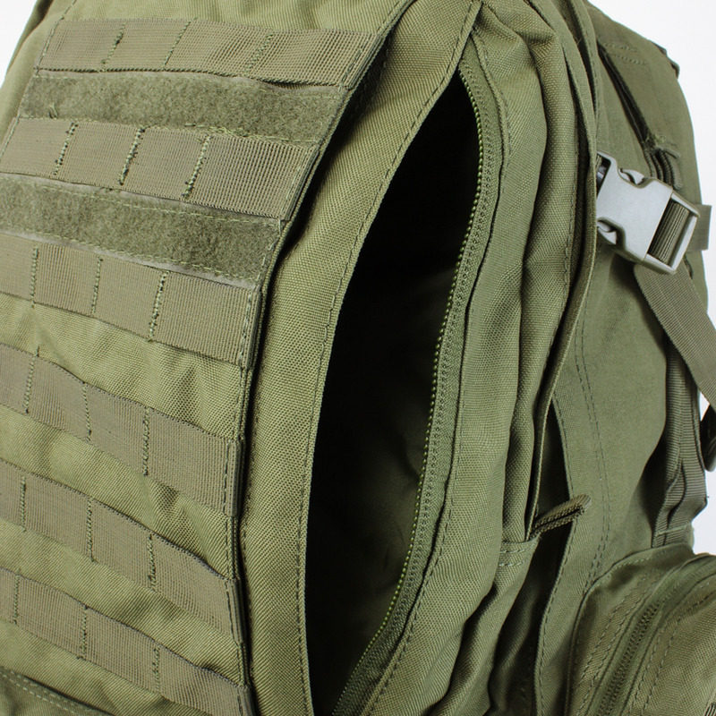 Condor 3-Day Assault Pack OD Green Zipper Compartment | Mars Gear