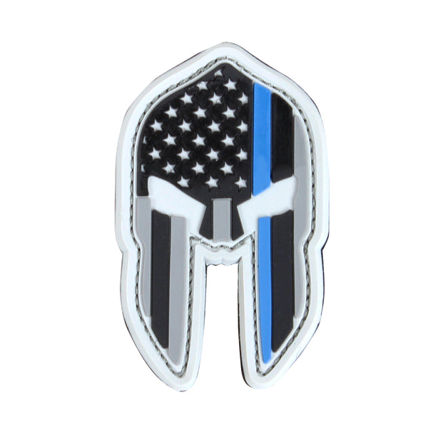 Condor Spartan Helmet PVC Patch - Thin Blue Line