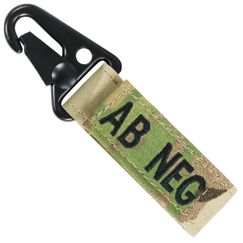Condor Blood Type Key Chain with MultiCam
