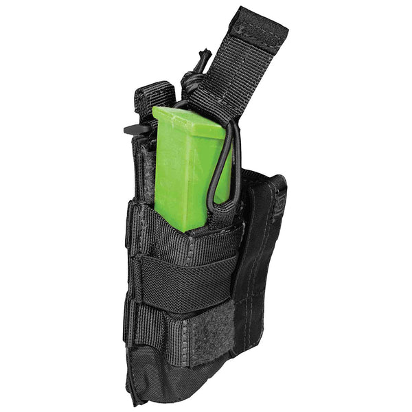 5.11 Tactical Double Pistol Mag Pouch w/ Bungee & Cover | Mars Gear