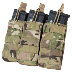 Condor Triple Open Top M4 Mag Pouch in MultiCam | Mars Gear