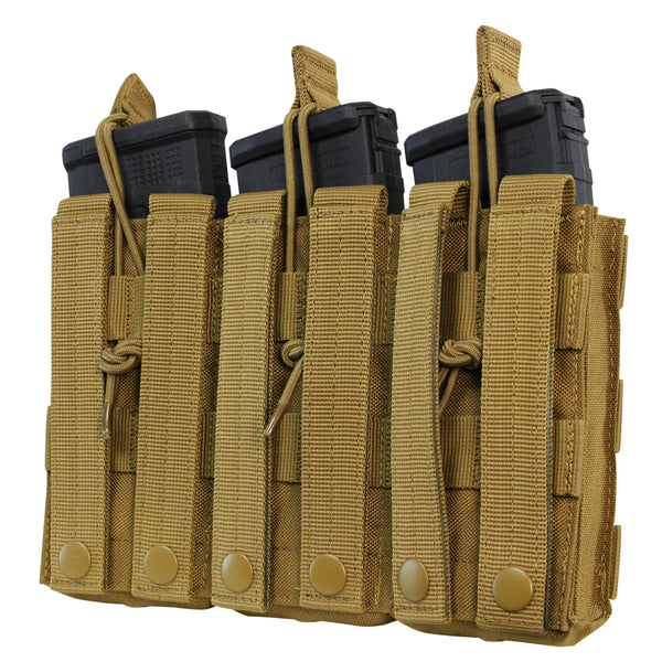 Condor Triple Open-Top M4 Mag Pouch - MultiCam