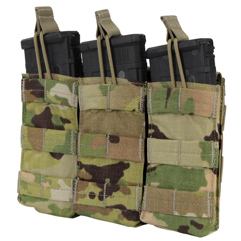 Triple Open-Top M4 Mag Pouch - Scorpion OCP