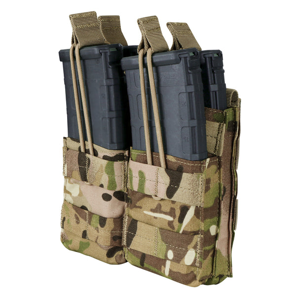 Condor Double Stacker M4 Open-Top Mag Pouch with MultiCam