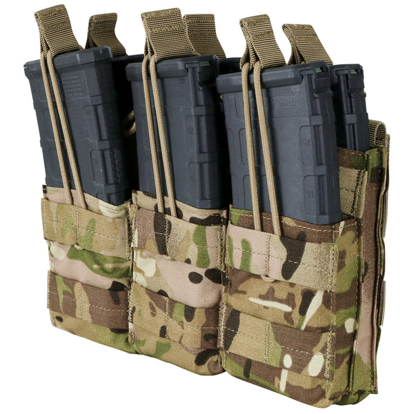 Condor Triple Stacker Open-Top M4 Mag Pouch - MultiCam