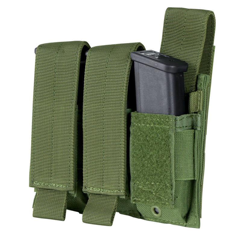 Condor Triple Pistol Mag Pouch with MultiCam