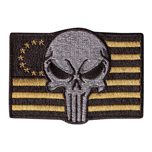 Punisher Flag Morale Patch - Brown