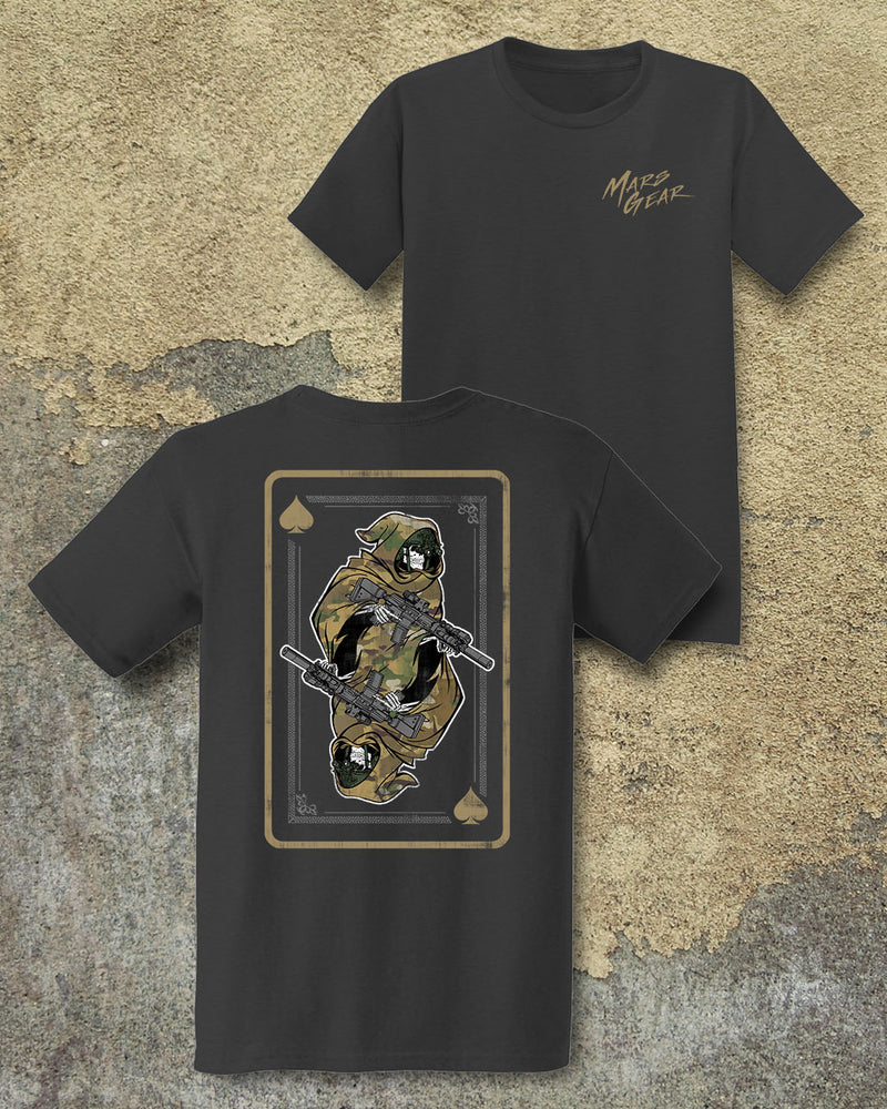 Mars Gear Death Card Graphic T-Shirt