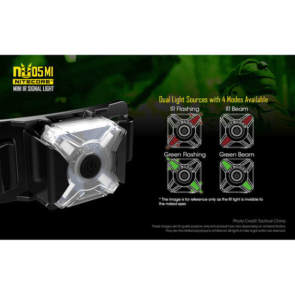 Nitecore NU05MI Green/IR USB LED Light