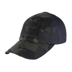 Condor Mesh Tactical Cap - Multicam Black