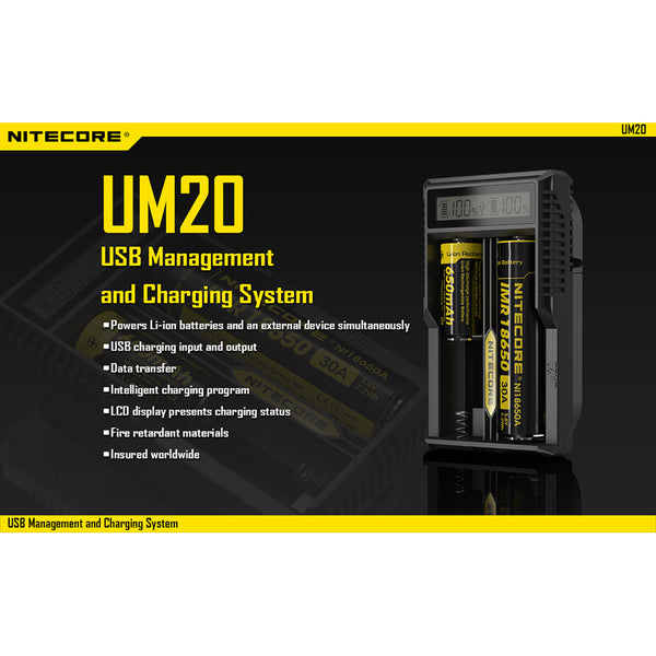 Nitecore UM20 Digital Smart Charger