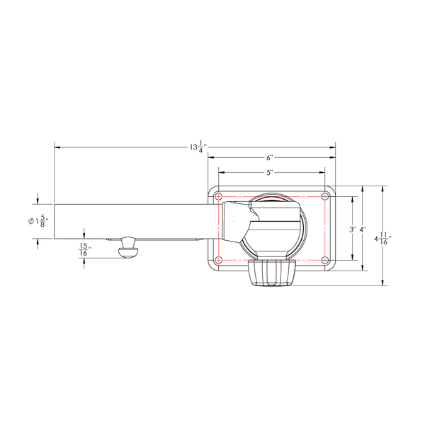 """TACO Base Reducer From 1-½/"""" to 1-⅛/"""" Poles Pair"""