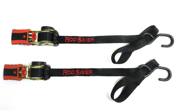 "Rod Saver RT50SH - Retractable Tie-Down 1"" x 50' w/Soft Hook (Pair) - Essenbay Marine"
