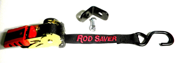 Rod Saver RT BTD - Retractable Bow Tie-Down w/bracket - Essenbay Marine