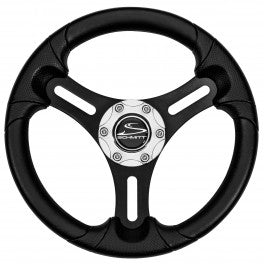 "Schmitt Wheel 13"" Torcello Lite Black Spoke Chrome Cap - Polyurethane PU061101-02 - Essenbay Marine"