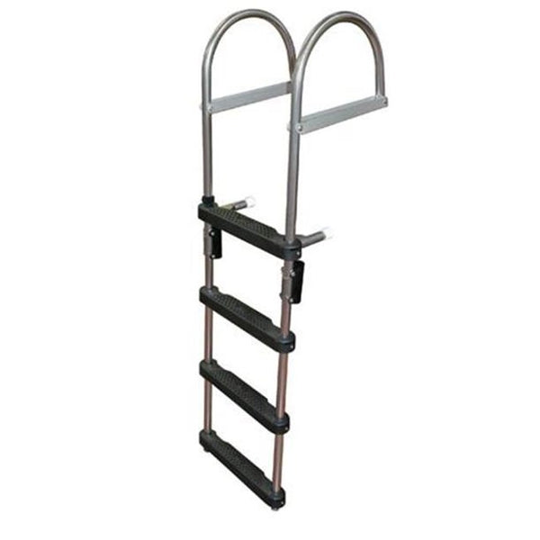 JIF Marine EPZ4 4 Step Pontoon Transom Boarding Ladder - Essenbay Marine