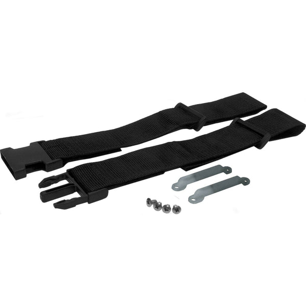 Taco Marine L10-1004 Black Nylon Leaning Post Cooler Strap and Stainless Steel Brackets - Essenbay Marine