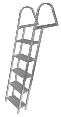 JIF Marine ASH2 5-Step Anodized Aluminum Ladder With Mounting Hardware - Essenbay Marine