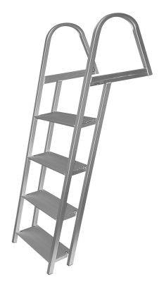 JIF Marine ASH 4-Step Anodized Aluminum Ladder With Mounting Hardware
