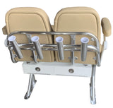 Dual Captians Chair Leaning Post Storage Box - Essenbay Marine